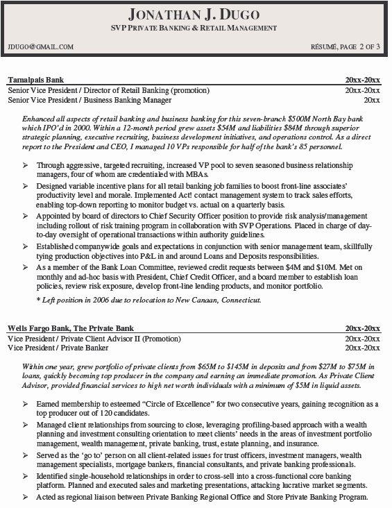 Resume for Retail Store