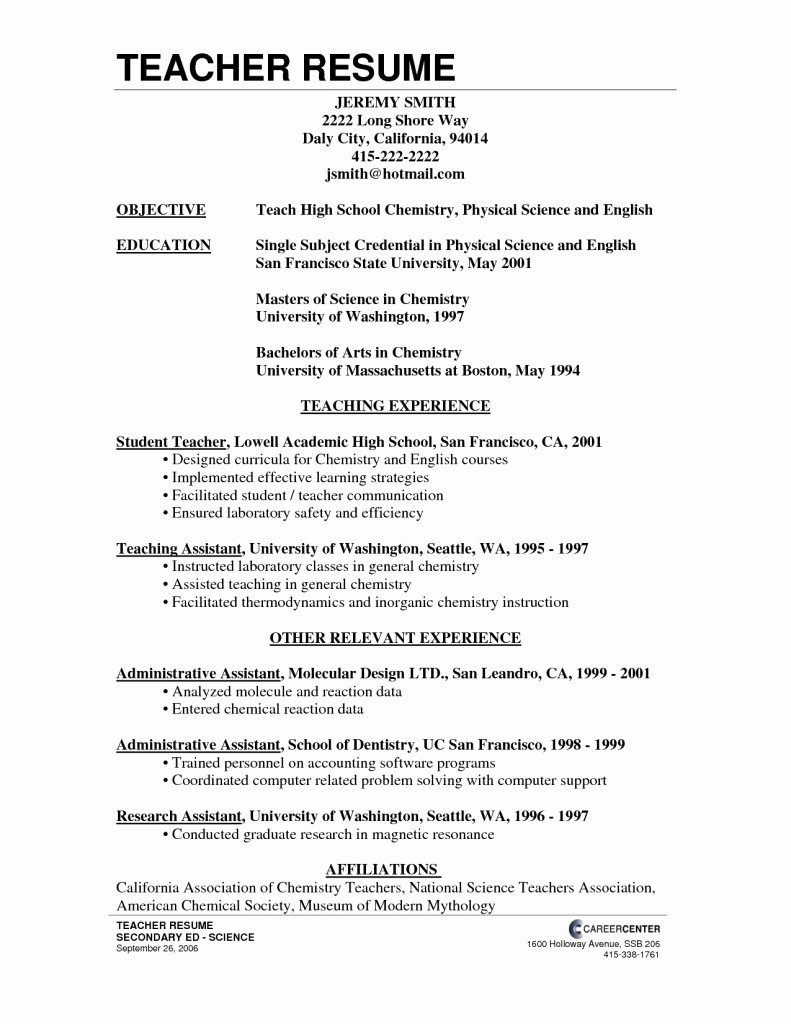 Resume for School Resume Ideas