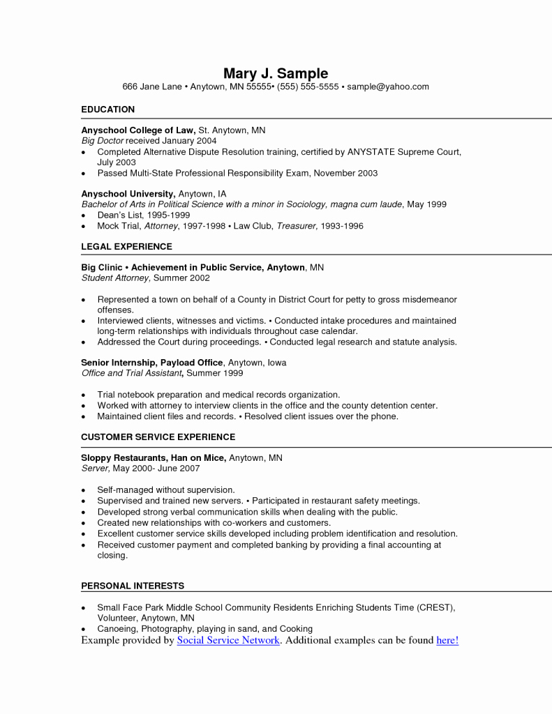 Resume for social Worker without Experience – Perfect