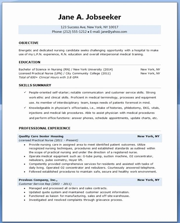Resume for Student Nurse Best Resume Collection