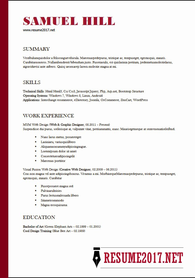 Resume format 2018 16 Latest Templates In Word