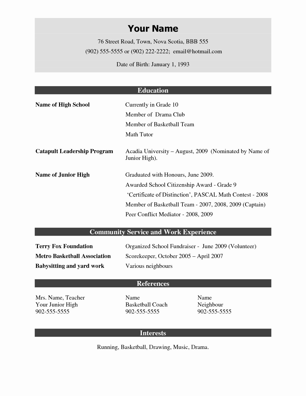 Resume format Download – Resume Template Ideas