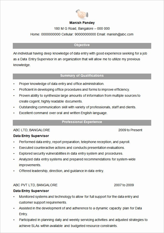 Resume format Download