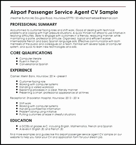 Resume format for Aviation Ground Staff Choice Image
