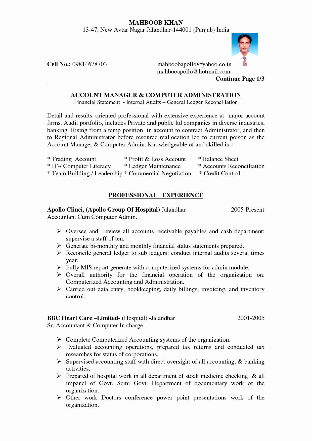 Resume format for Bank Jobs In India Sidemcicek