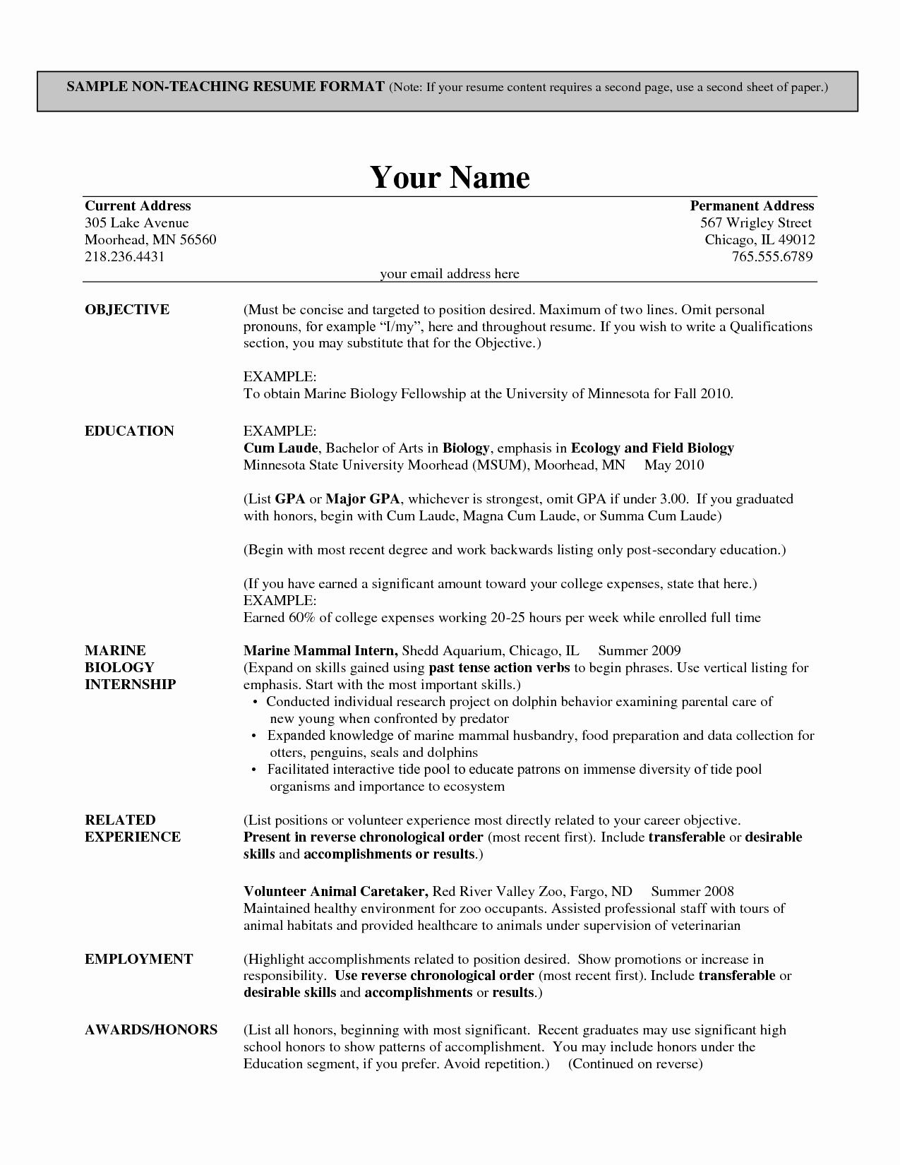 Resume format for Teacher Job In School Bongdaao