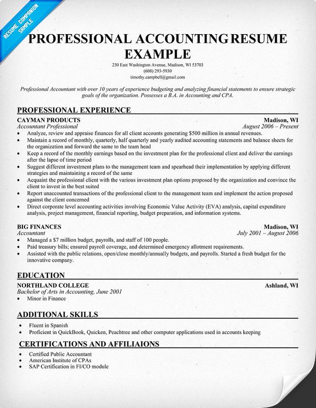Resume format March 2015