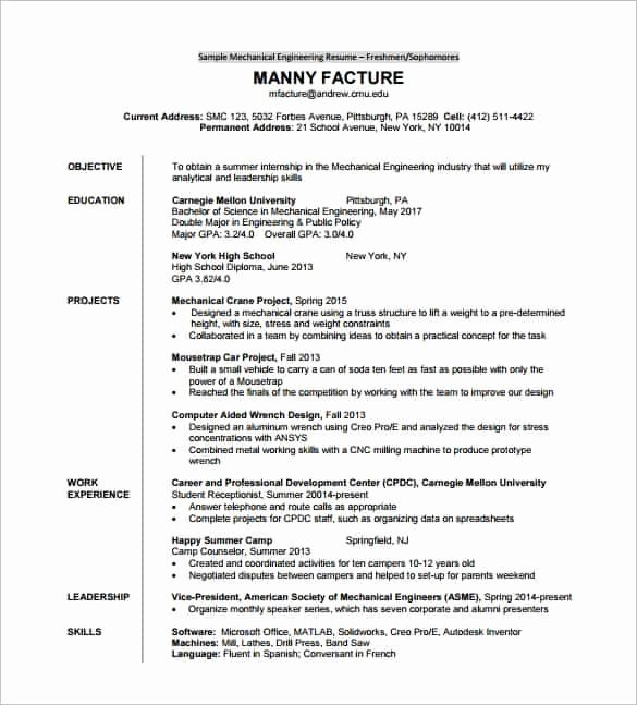 Resume format Pdf Download Free Best Resume Gallery
