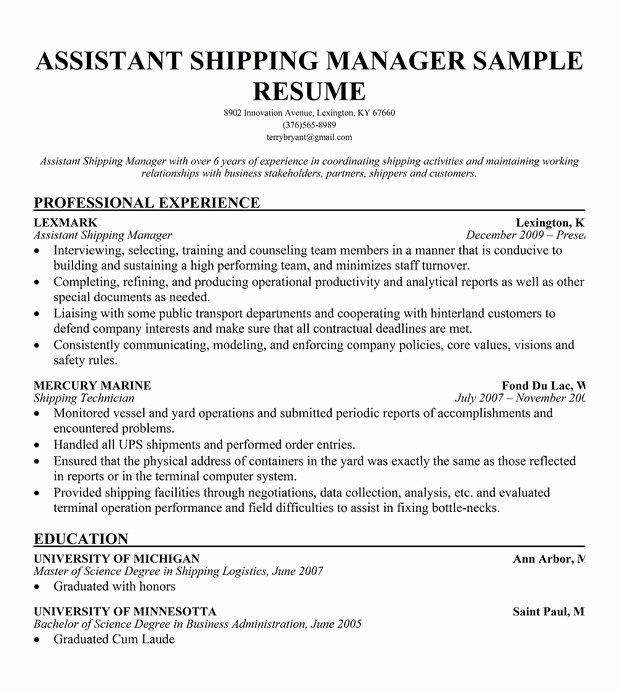 Resume format Resume Builder Warehouse