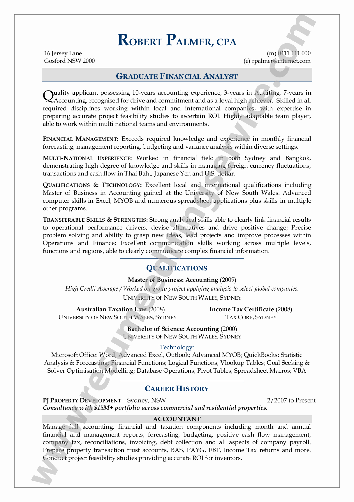 Resume format Resume Template Usa