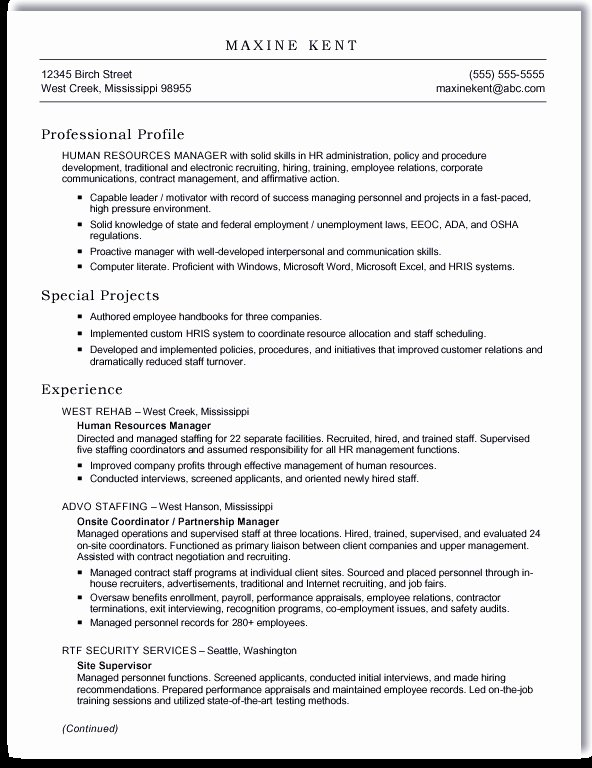 Resume format Template for Word Best Resume Gallery