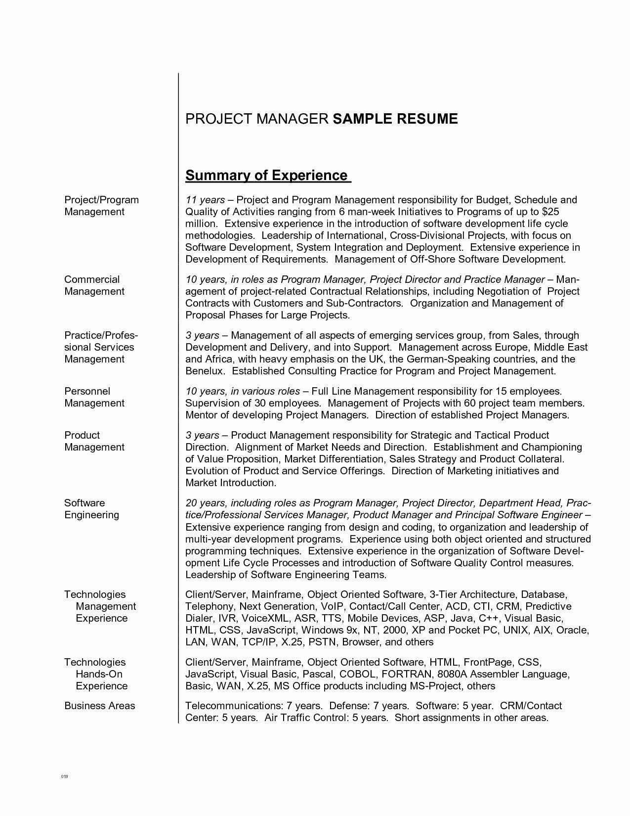 Resume General Summary Examples Resume Career Summary