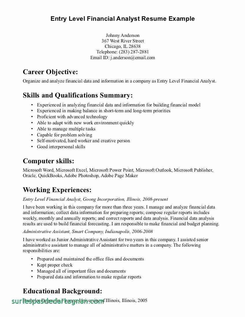 Resume General Summary for Resume Objective Summary for