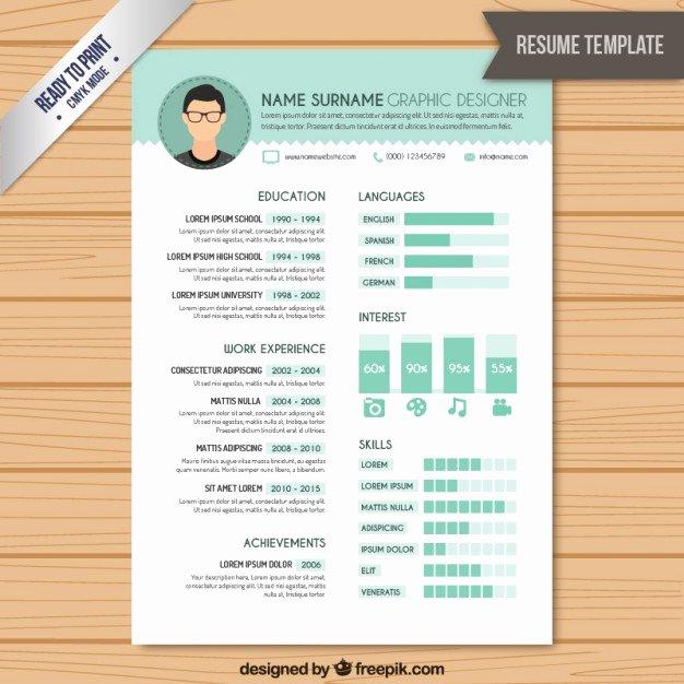 Resume Graphic Designer Template Vector