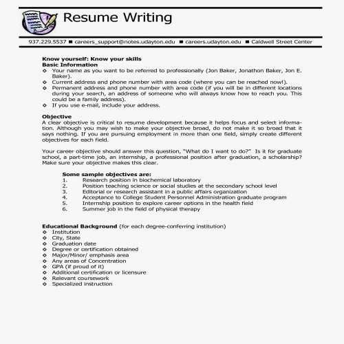 Resume How to Write About Me In Resume How to Write A