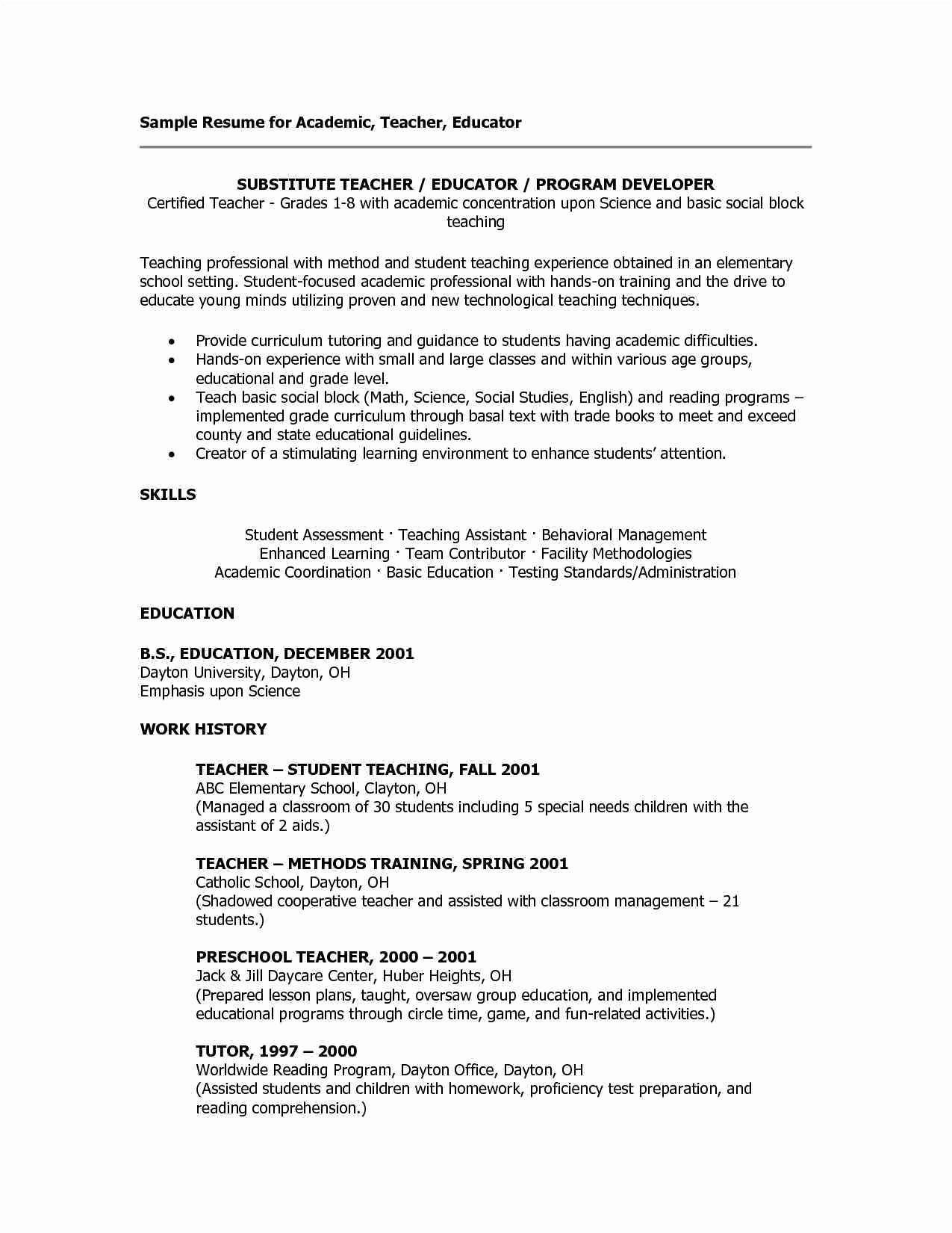 Resume In Usa format Inspirational Great Sample Resume