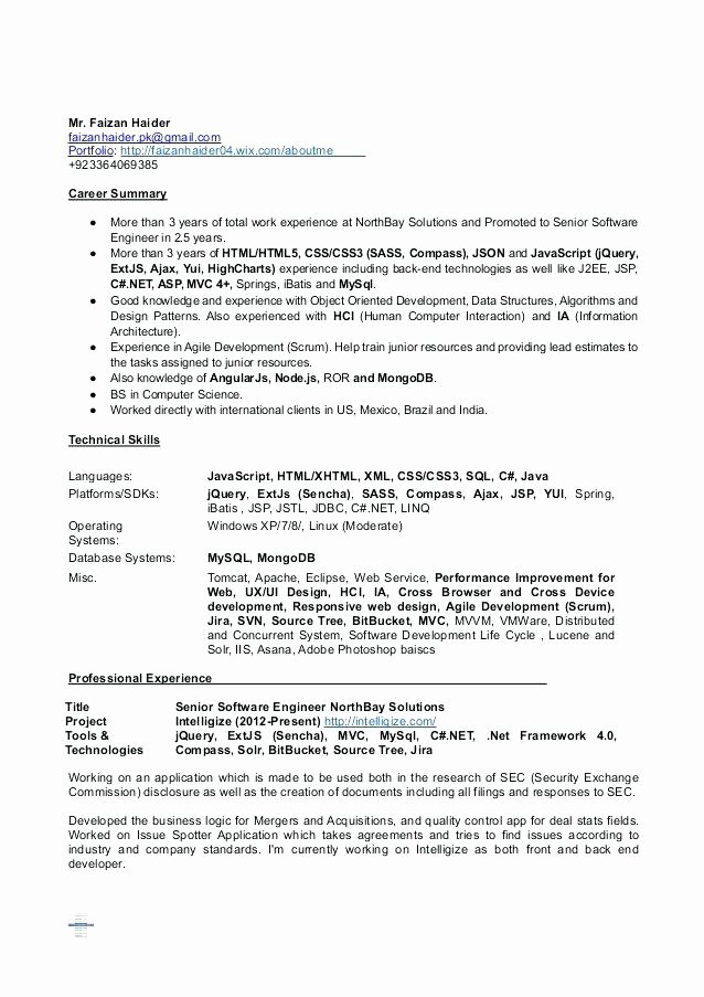 Resume Java Web Developer Resume Sample Web Developer
