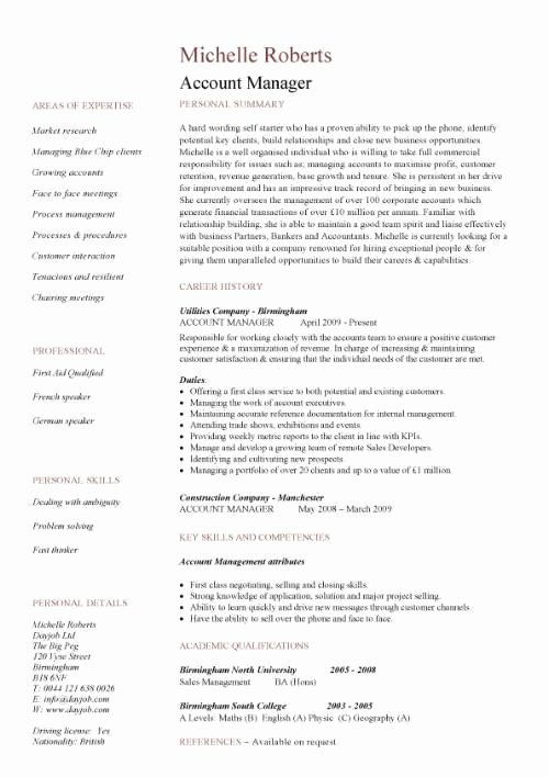 Resume Job Descriptions Examples