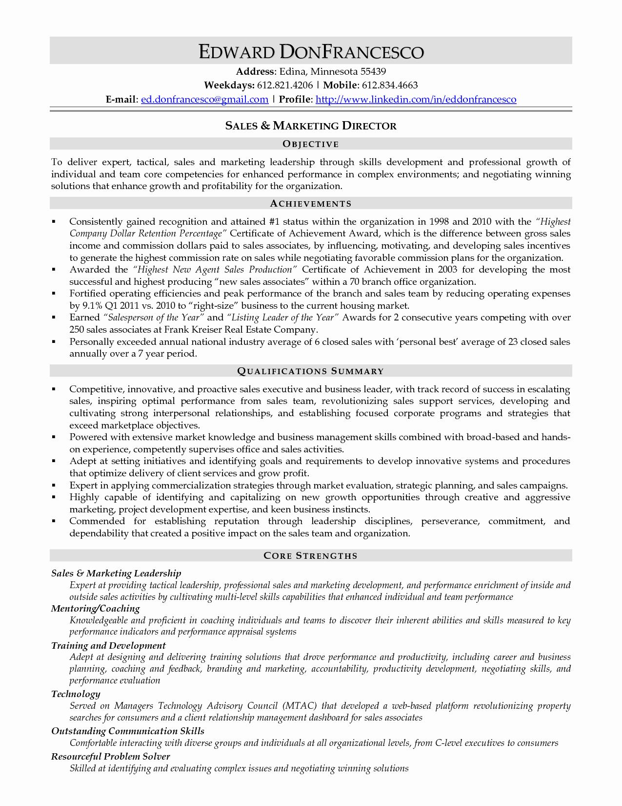 Resume Key Petencies Examples Sidemcicek