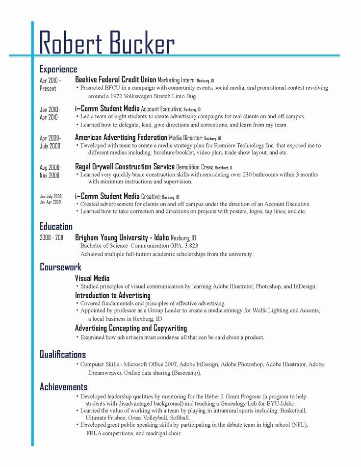 Resume Layout Resume Cv