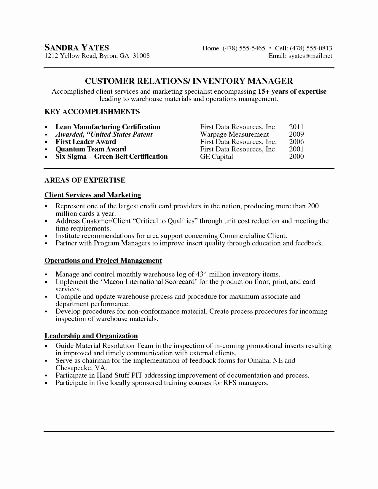 Resume Letter Sample Best Senior Executive Cover Letter