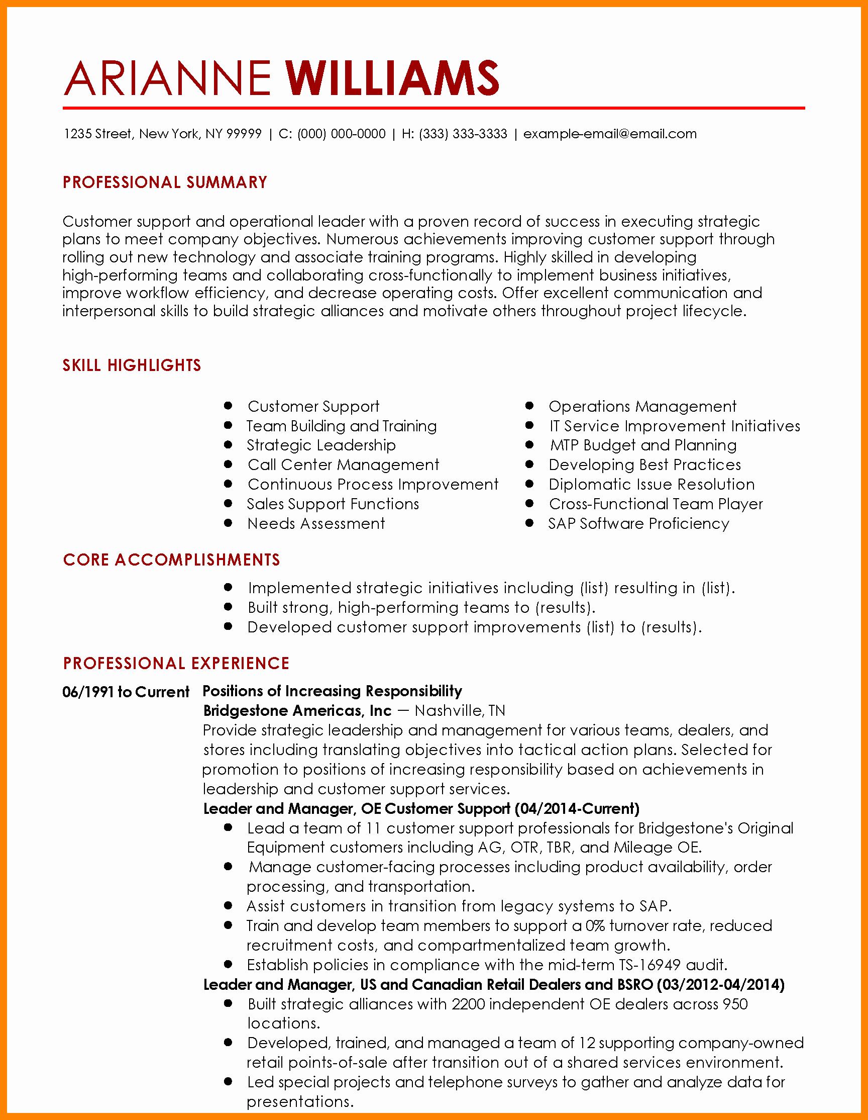 Resume List Ac Plishments Resume Ideas