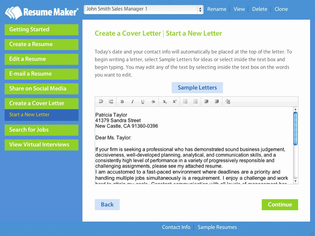 Resume Maker Professional 11 0 Free Download