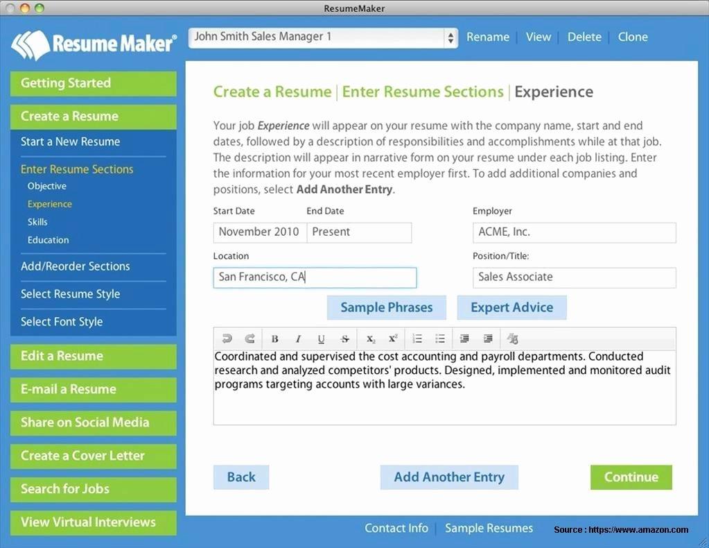 Resume Maker Professional 18 Free Download Resume