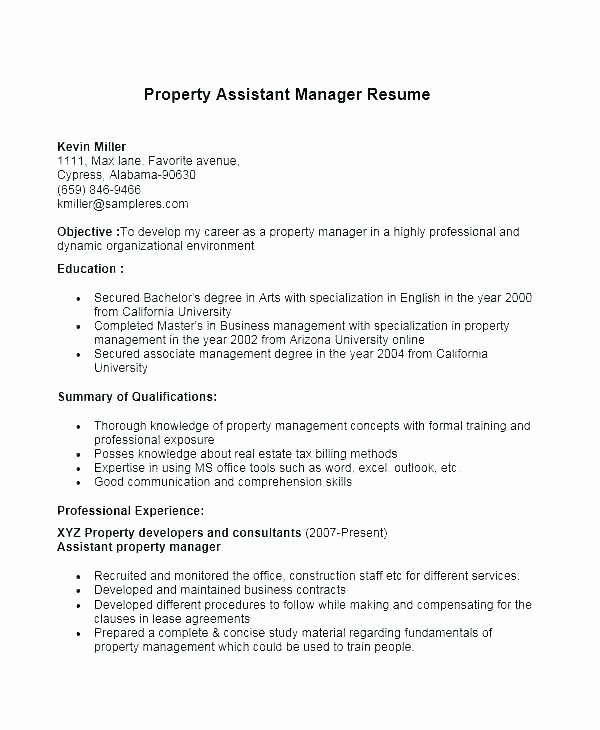 Resume Management Objective Resume Purpose Statement
