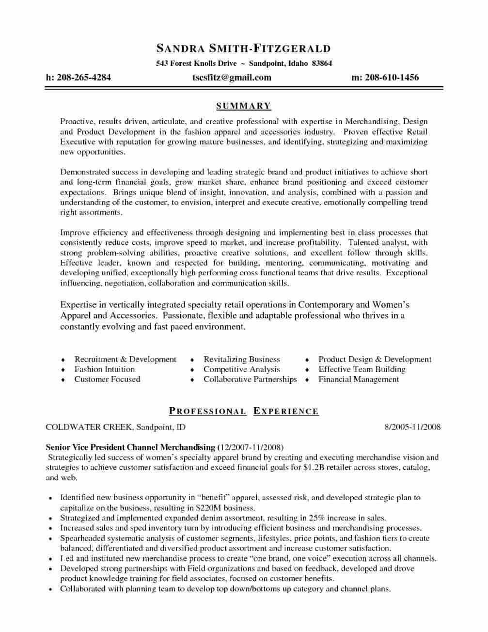 Resume Merchandiser