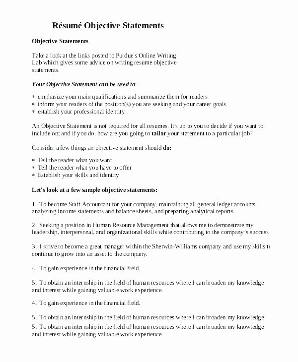 Resume Mission Statement Samples Objective Examples for