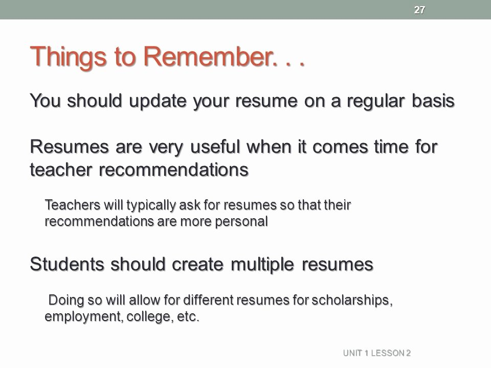 Resume Naviance Family Connection Ppt Video Online