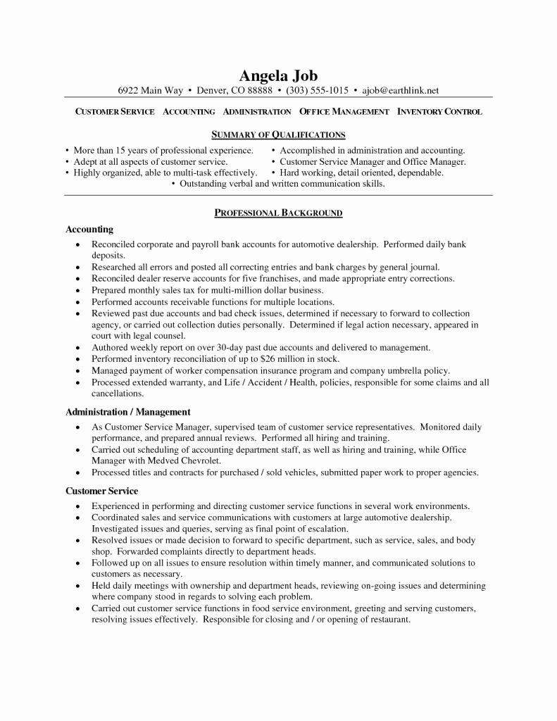 Resume Objective Customer Service 258 Automotive assistant