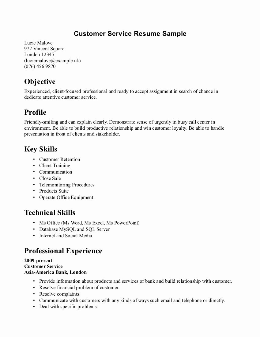Resume Objective Examples Call Center – Perfect Resume ...