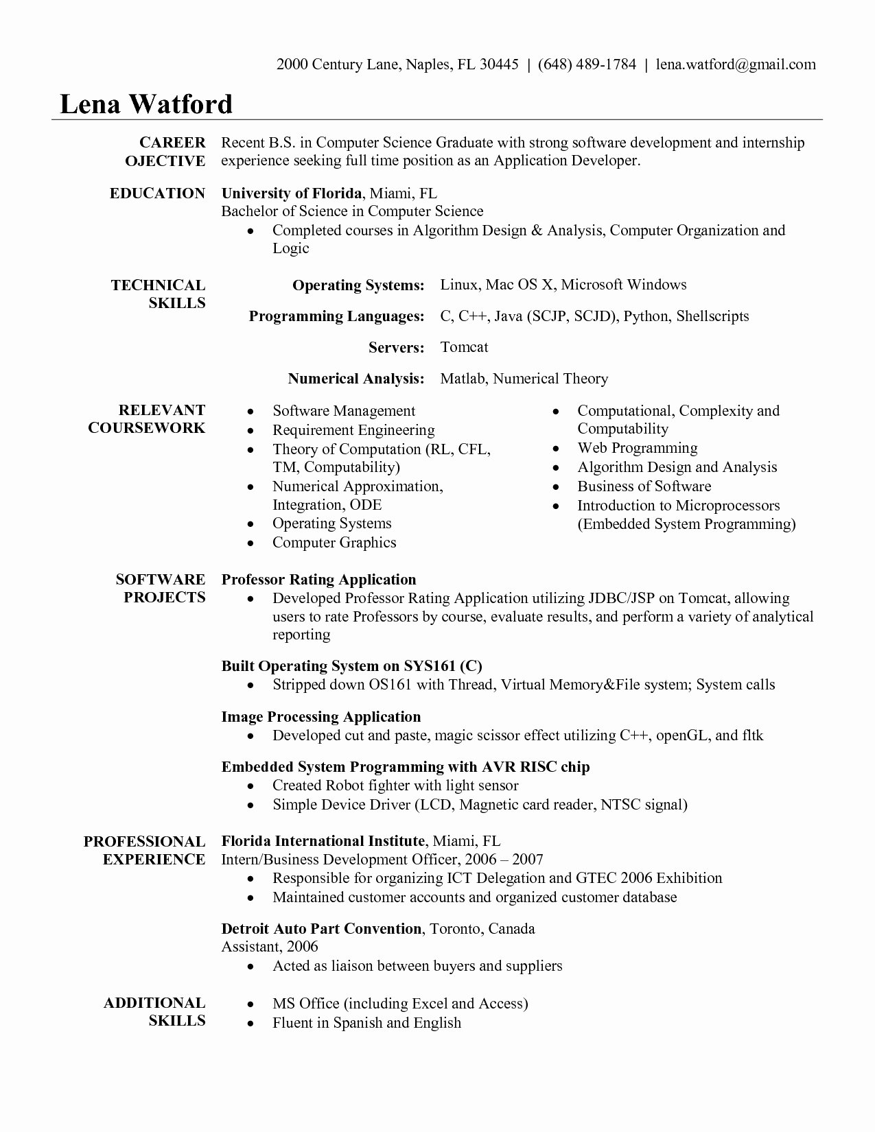 Resume Objective Examples for software Engineer Bongdaao