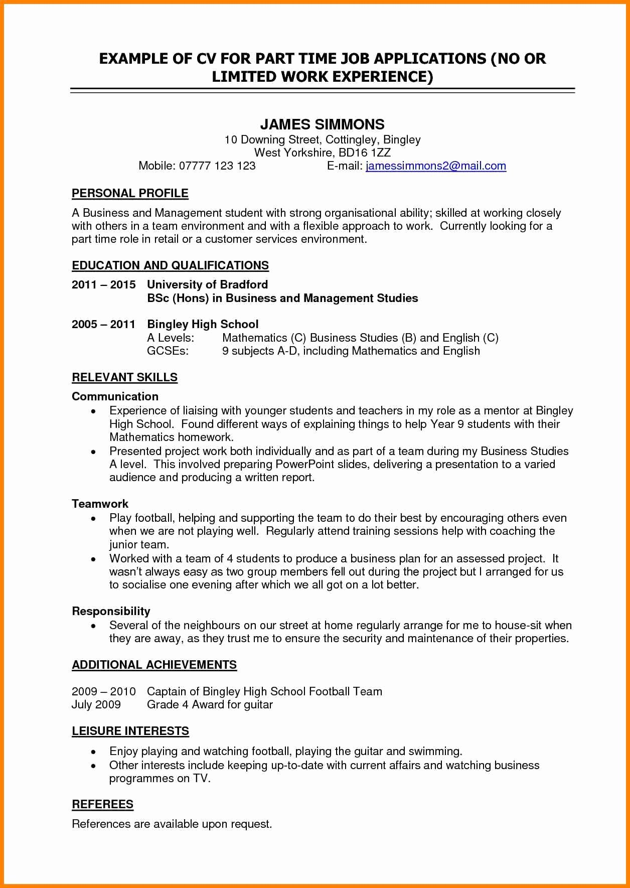 Resume Objective for A Part Time Job Sidemcicek