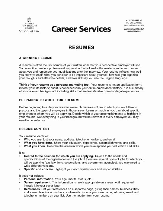 Resume Objective for College Student Best Resume Collection
