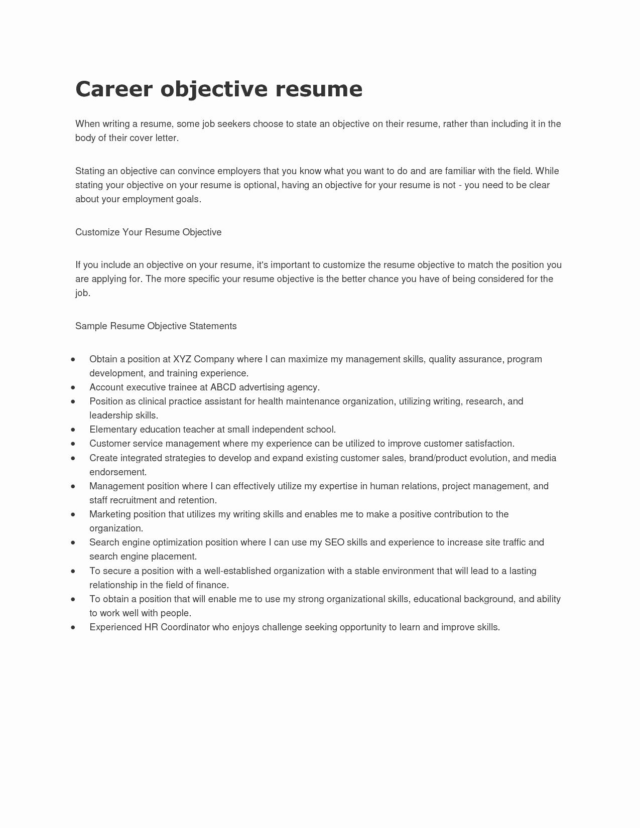 Resume Objective Lines for software Engineer Bongdaao