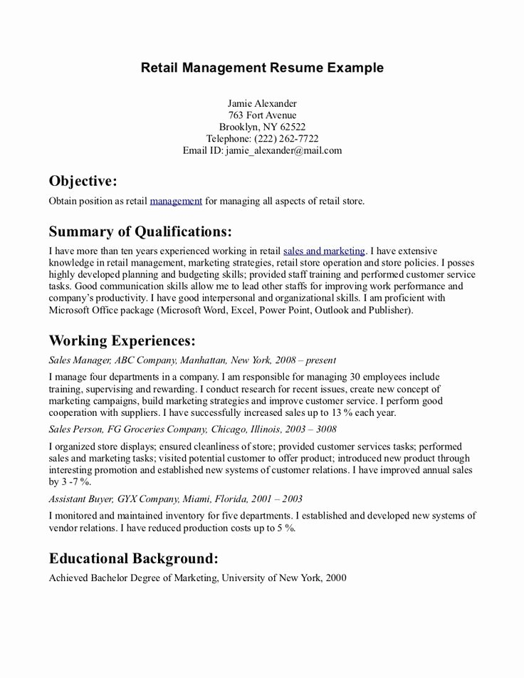 Resume Objective Statement for Sales Resume