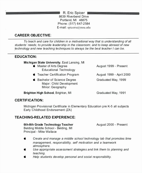 Resume Objective Statment Restaurant Resume Objective