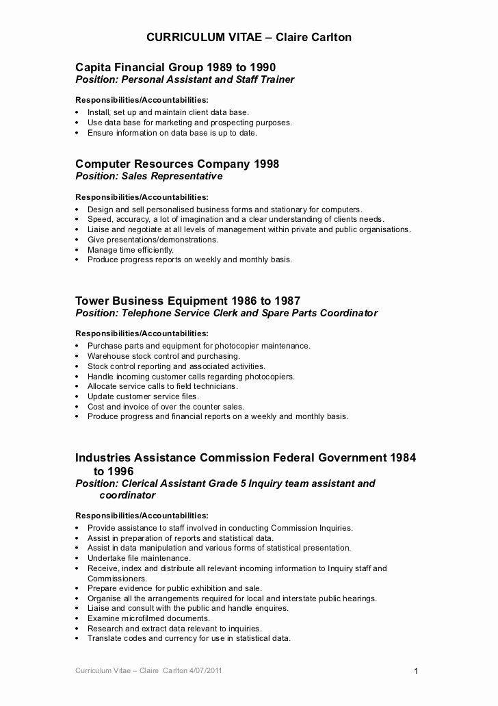 Resume Objectives for Clerical Positions Cover Letter