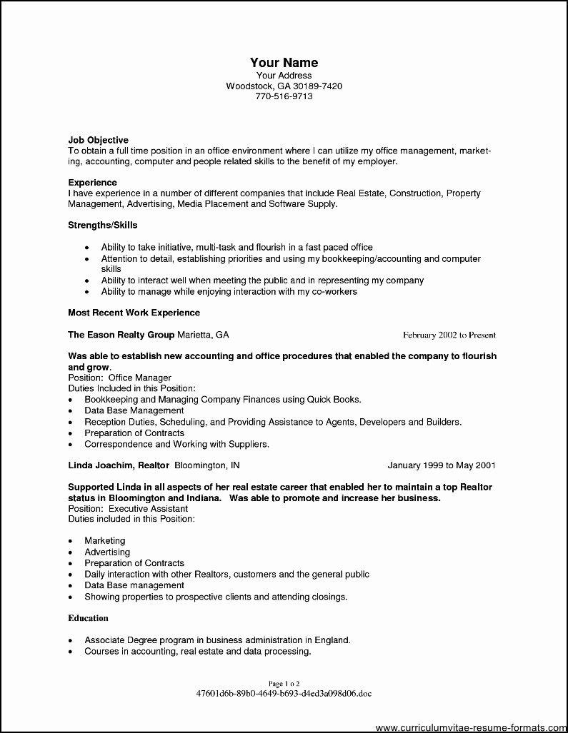 Resume Objectives for Fice Manager Free Samples