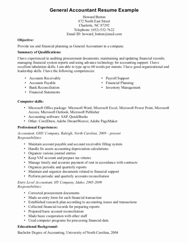Resume Objectives General Best Resume Gallery