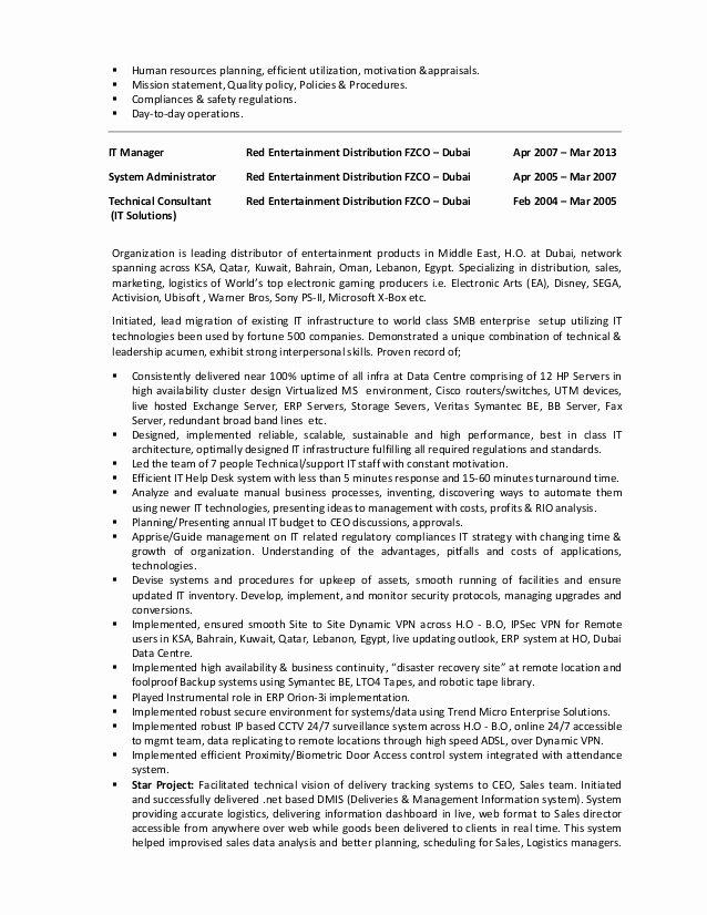 Resume Of Prakashbt Projectmanager It Infrastructure