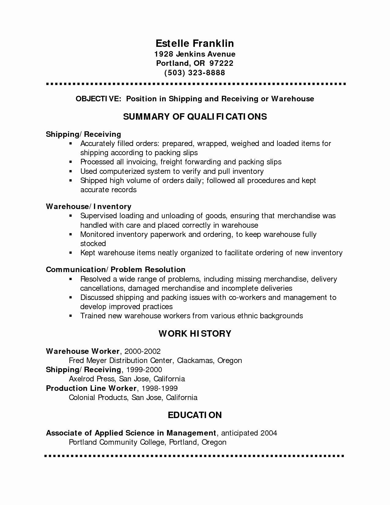 Resume Outline Free