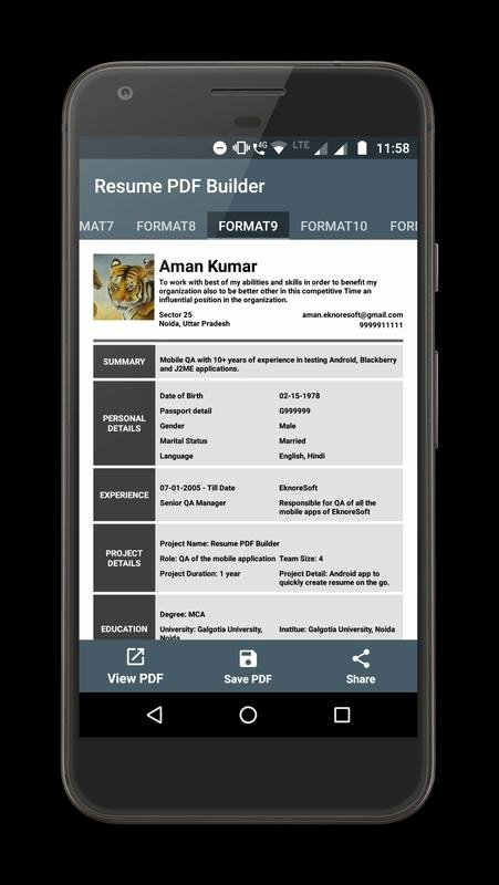 Resume Pdf Maker Apk Download Free Business App for
