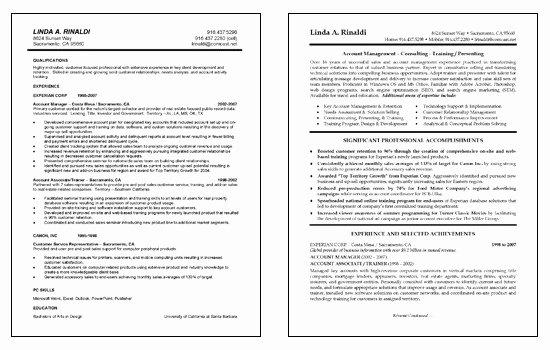 Resume Petencies Examples