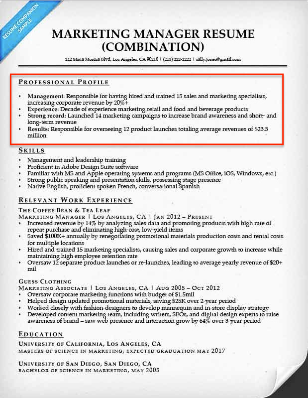 Resume Profile Examples & Writing Guide