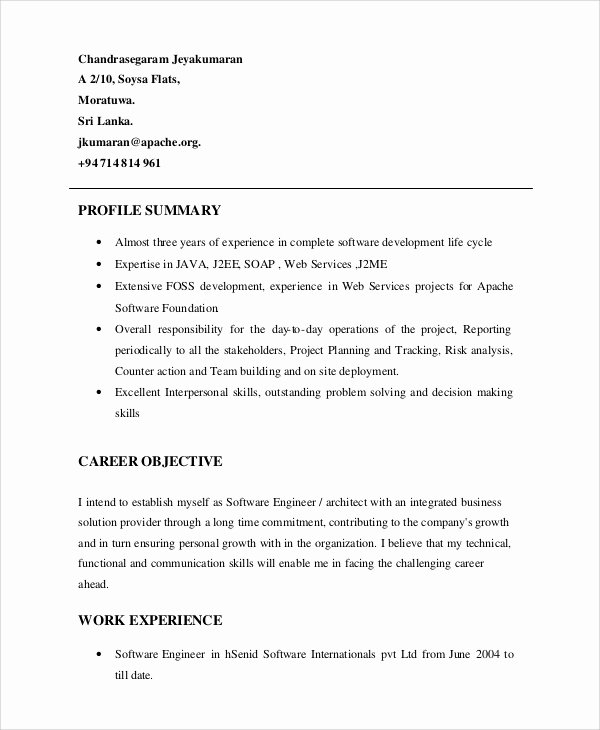 Resume Profile Examples Cool Personal Profile for Cv