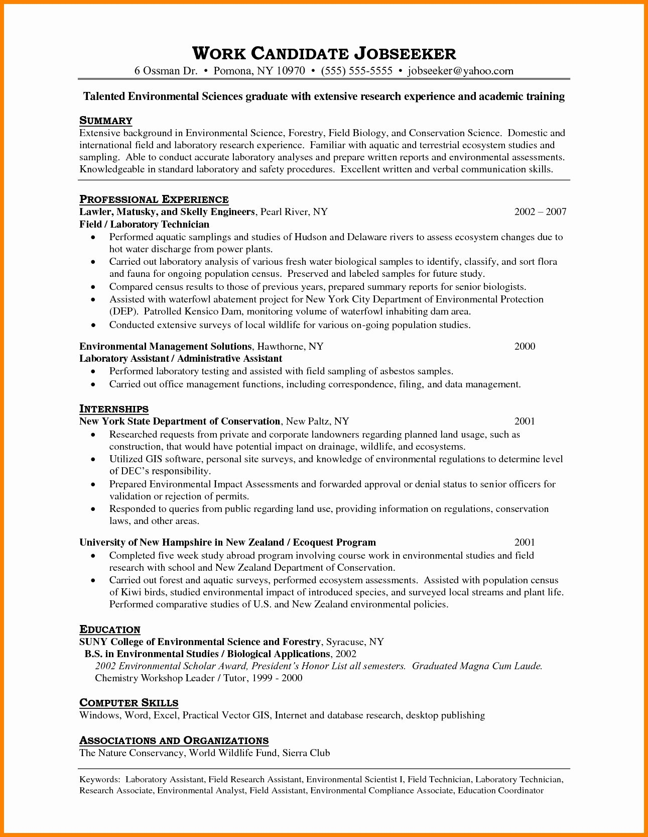 Resume Puter Technician Objective Valid Best Entry
